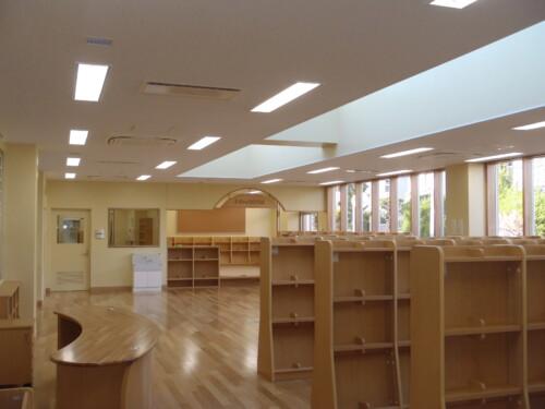LED照明事例施工事例 図書室施工例