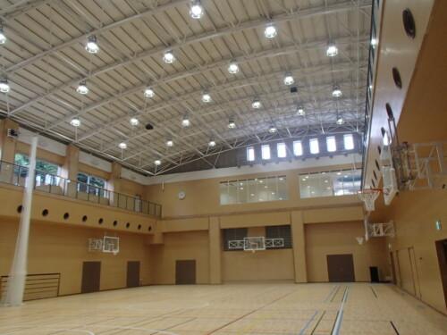 LED照明事例施工事例 体育館施工例
