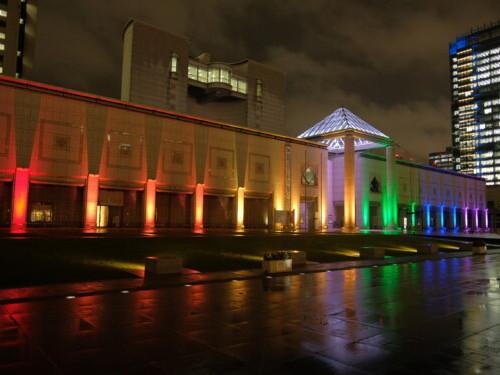 LED照明事例施工事例 美術館ライトアップ