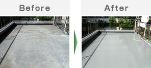 マンションバルコニー・屋上防水工事 / ウレタン塗膜防水