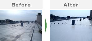 大規模マンション屋上防水工事 / ウレタン塗膜防水